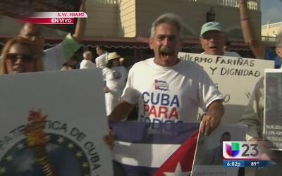 Exiliados cubanos se solidarizan con grupo opositor