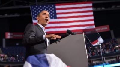 El presidente Barack Obama durante su cierre de campaña.