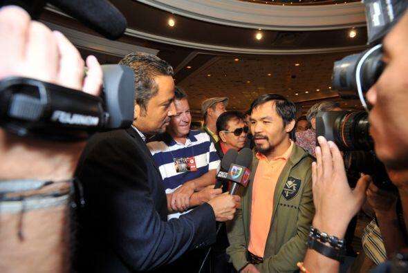 'Pac Man' agradeció al público y a la prensa que han seguido esta pelea....