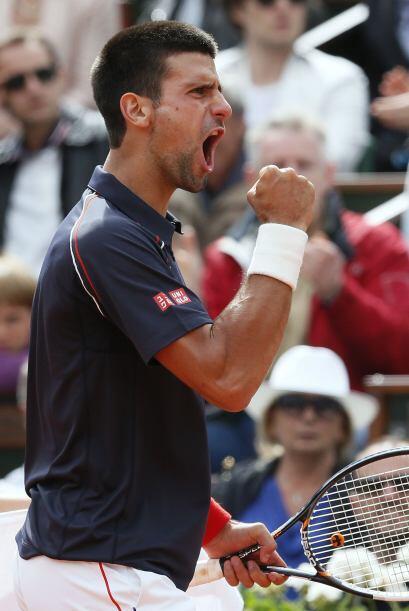 Es la cuarta vez que Djokovic es capaz de levantar un partido habiendo p...