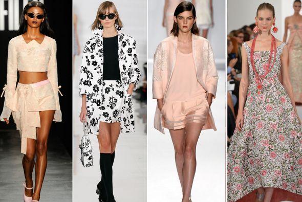 Transparencias, 'crop tops', shorts, estampados, satinados y el 'black a...