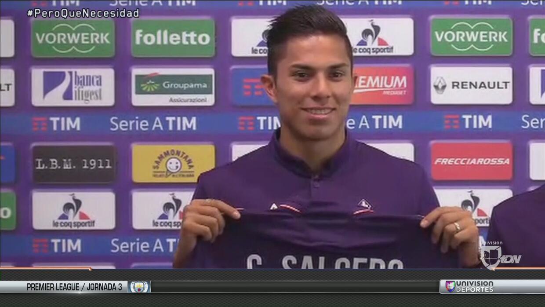 """Carlos Salcedo fue presentado en la Fiorentina: """" El reto más importante..."""