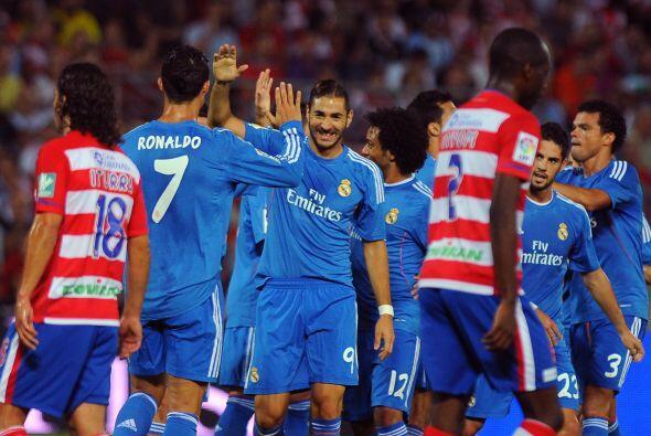 El francés Karim Benzema fue el autor del 1-0 para los 'Merengues'.