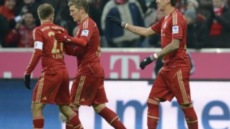 Mario Mandzukic hizo dos goles para el triunfo del Bayern.
