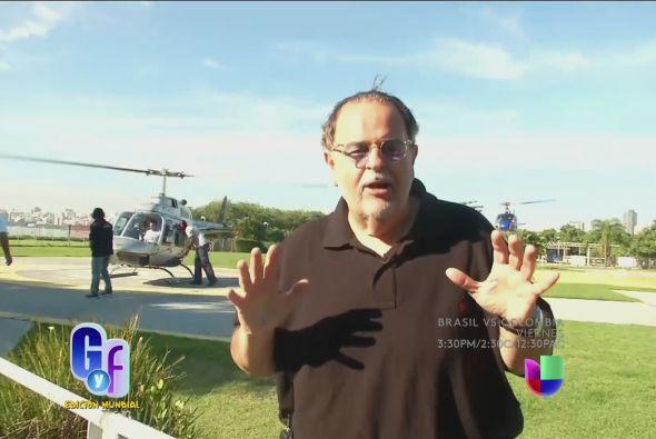 Antes de subir al helicóptero, se aseguró de poder llevar consigo una cá...