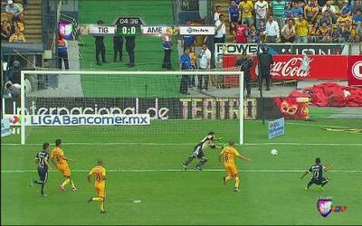 Tigres vs América: Remate desviado de Martínez muy cerca del primero de...