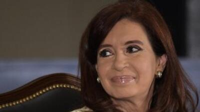 La presidenta argentina Cristina Fernández de Kirchner.