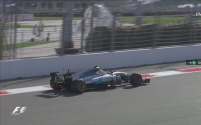 Así festejó su primer lugar Valtteri Bottas en el GP de Rusia
