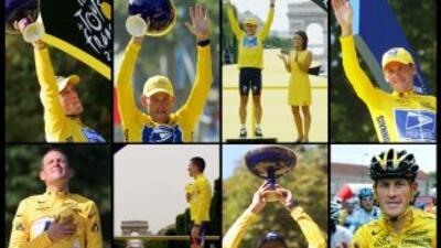 Los triunfos de Armstrong en el Tour de Francia.