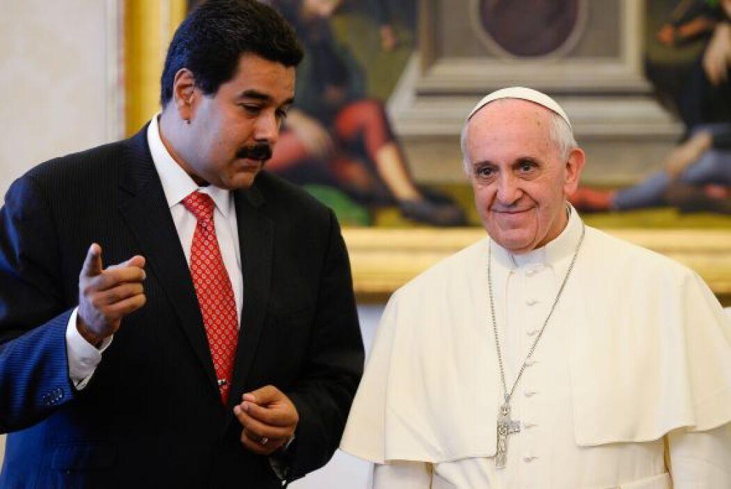 En su encuentro con el presidente venezolano, Maduro, el pontífice dijo...