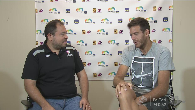 """Juan Martín del Potro: """"Jugar el Miami Open una vez más  es lo mejor que..."""