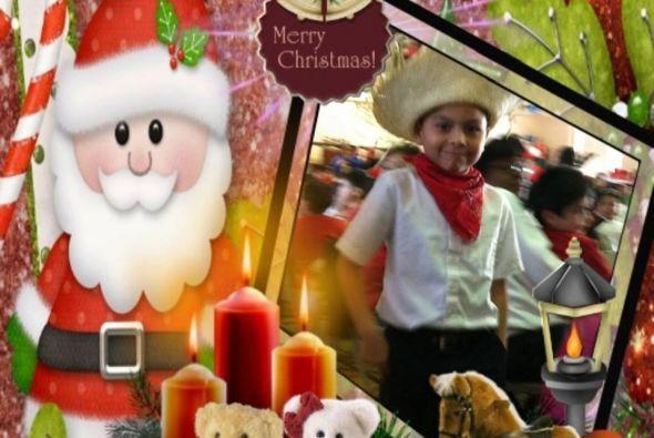 El hijo de Leticia Gracia a comenzó a disfrutar este tiempo de navidad.