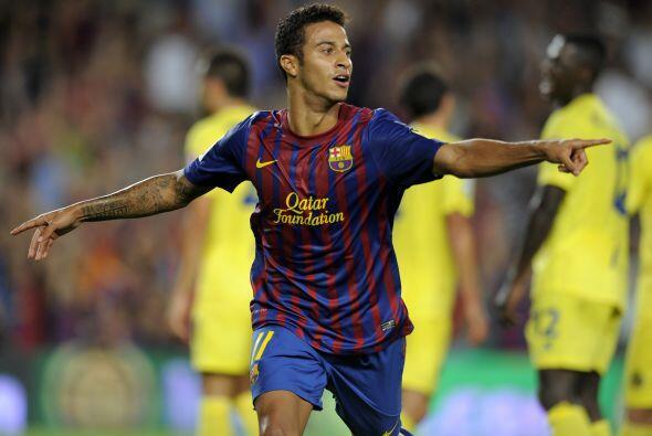 Pero el juvenil Thiago Alcántara, que salió como titular, mostró su técn...