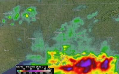 La NASA muestra cómo Louisiana quedó sumergida bajo el agua en 72 horas
