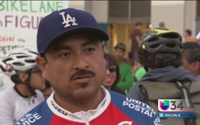 Ciclistas exigen más seguridad en Los Ángeles