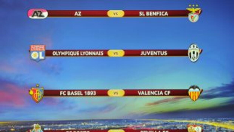 Así quedó el sorteo de Liga Europa.