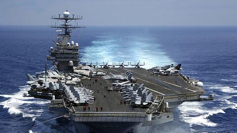 Este es el buque Carl Vinson, de EEUU, el cual se moviliza desde Singapu...