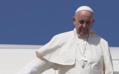 El papa Francisco en su escala en Cuba, antes de llegar a México.
