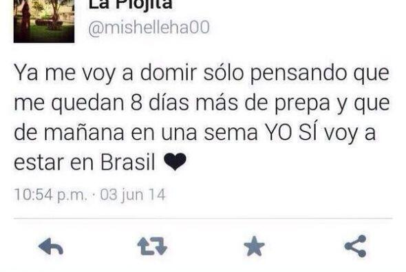 Además, se jactó de que ella SÍ SE VA a Brasil, no como el resto de los...
