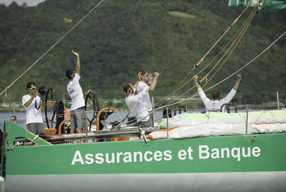 El Groupama cruzó la línea de meta en el puerto brasile&nt...