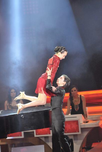 Junto a Max, se consolidaron como una estupenda pareja para bailar.