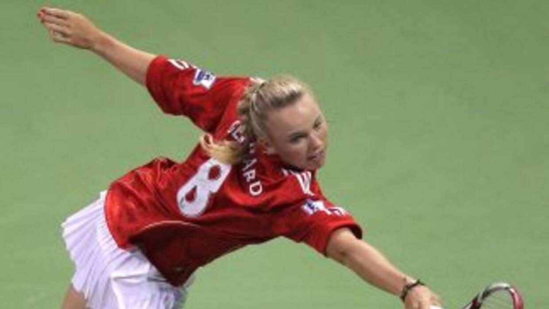 Wozniacki no podrá disfrutar de un título continental de su equipo., el...