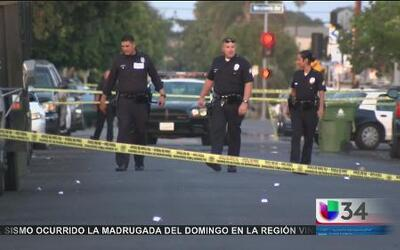 Balacera dejó cuatro heridos en Los Ángeles
