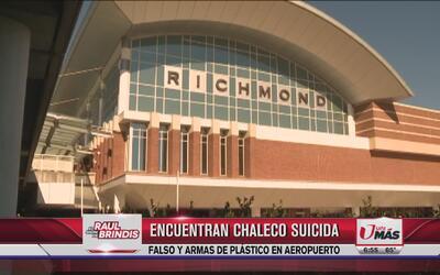 Encuentran chaleco suicida falso y armas de plástico en aeropuerto