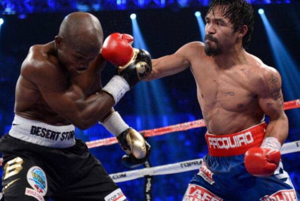 Parecía que Pacquiao tenía dominada la pelea,