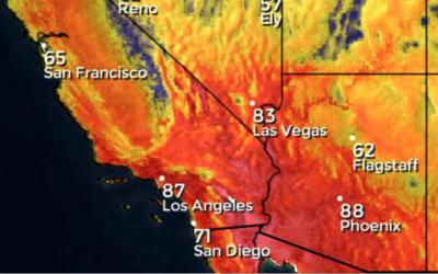 Sistema de alta presión trae ola de calor al sur de California de...