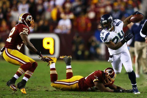 Lynch culminó con 131 yardas en 19 acarreos y un touchdown.