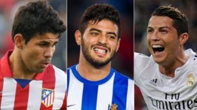 Diego Costa, Carlos Vela y Cristiano Ronaldo compiten por el premio a me...