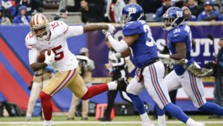El touchdown de Michael Crabtree, único para los 49ers en el partido, ac...