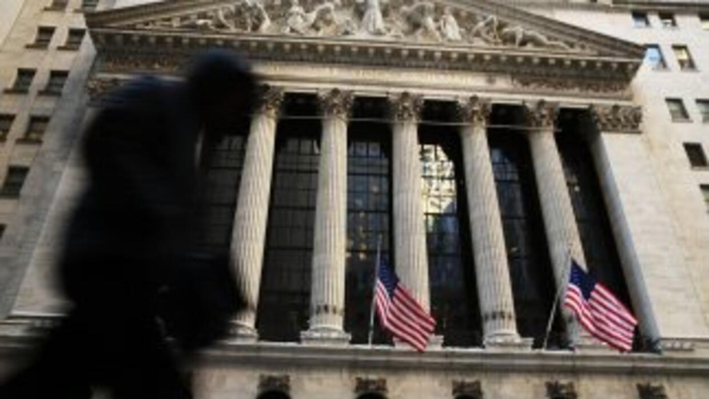 El exterior de la Bolsa de Valores de Nueva York.