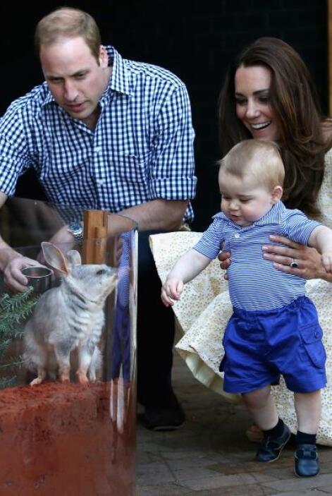 El pequeño George se mostró confiado y alegre mientras le presentaban a...