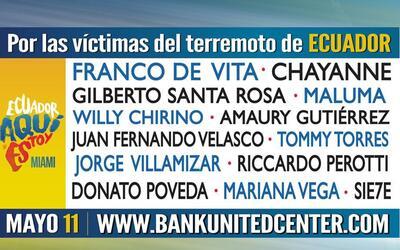 Concierto por los afectados en Ecuador