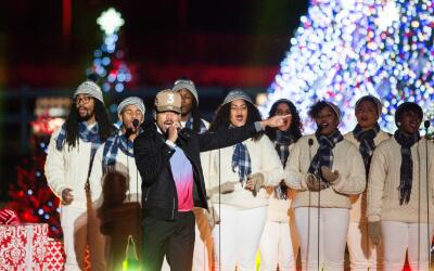 Chance the Rapper performs during the 94th National Annual Christmas Tre...