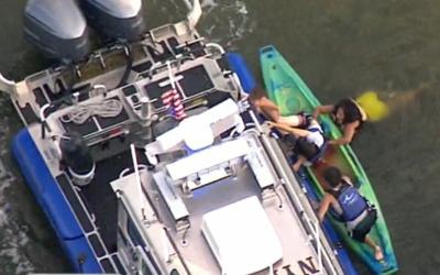 Ferry choca contra un grupo de 10 que navegaban en kayaks el río Hudson