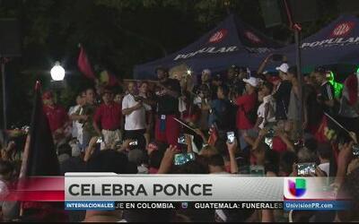 No para la fiesta por la victoria de los Leones de Ponce