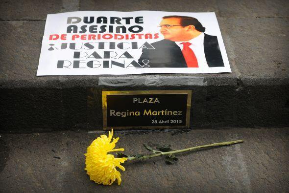 Una imagen tomada por Rubén durante la marcha por el tercer aniversario...