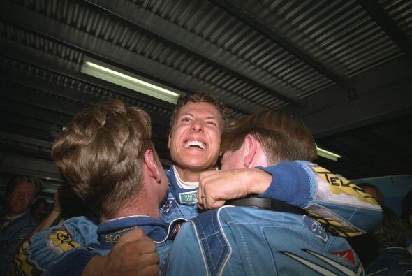 Su primer victoria en la F1 llegó el 16 de agosto de 1992, en el...