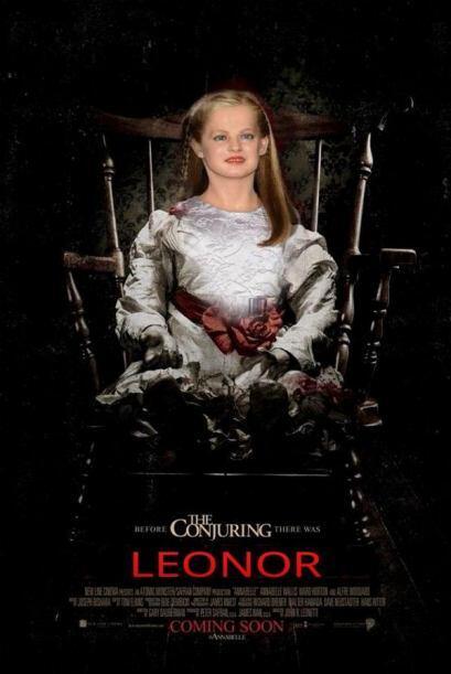"""La imagen ha sido colocada en un póster de la película de terror """"El Con..."""