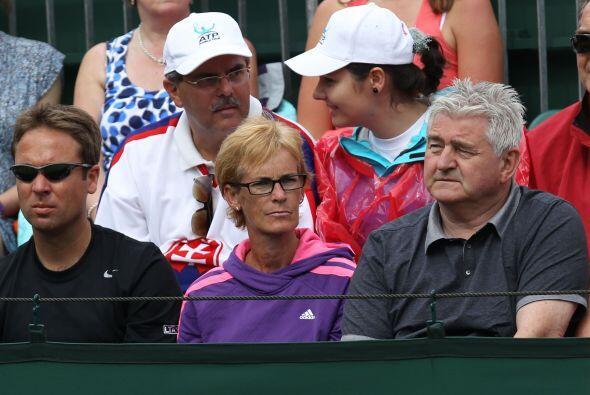Judy Murray siempre apoyando a su hijo: Andy.