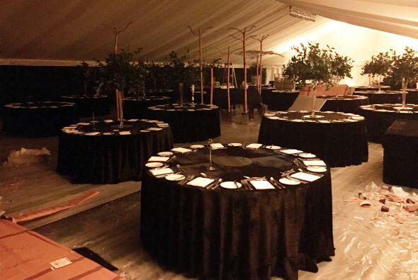 Aquí festejaron George, Amal y sus amigos hasta altas horas de la noche.