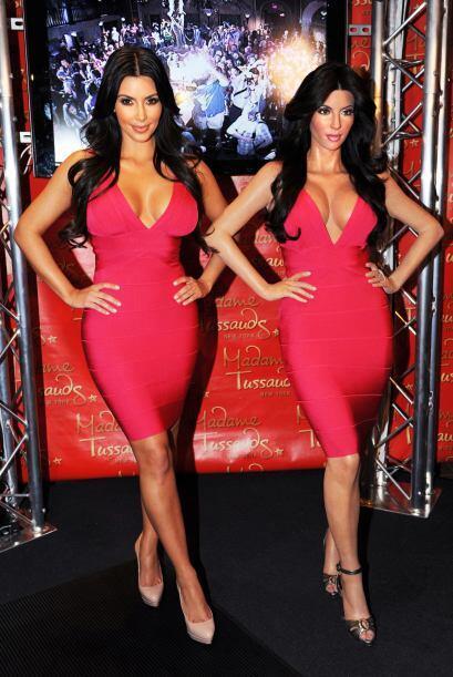 La figura de cera de Kim Kardashian no podia faltar, ¿le habr&aac...