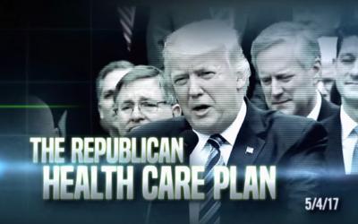 Una imagen de uno de los anuncios del DCCC contra los republicanos del C...