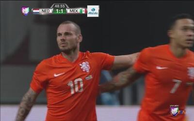 Holanda vs. México: Sneijder saca balazo impresionante para empatar, com...