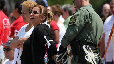 Arrestos por protesta migratoria frente a La Casa Blanca