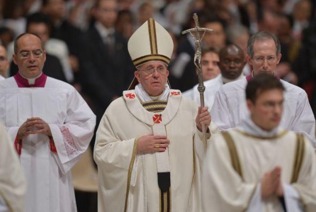 El papa Francisco, que este año pasa su primera Navidad como Pontífice,...