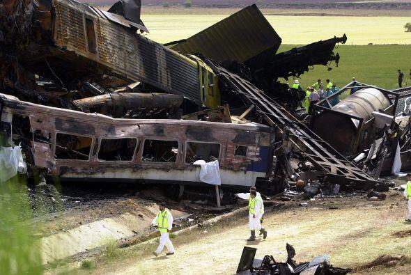 Un tren Talgo y uno de Mercancías chocaron en 2003 en Chinchilla (Albace...
